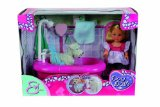 Simba Toys 105733094 - Evi Love Puppe, Hunde Bad